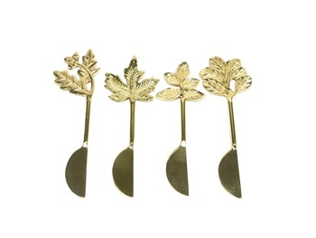 Hallmark Set of 4 Gold Leaf Spreaders
