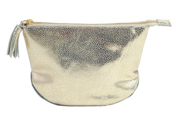 Floor9 Gold Embossed Zip Clutch