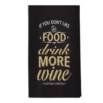 AMSCAN - 'Drink More Wine' Tea Towel