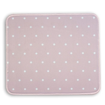 Mary Square - Designer Mouse Pad - Pink with Polkadots
