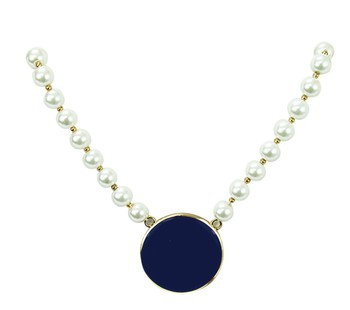Mary Square Choker - Navy