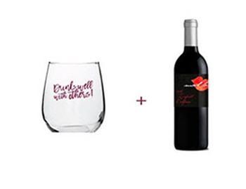 Stemless Wine Glass + Mad Love Zinfandel Free Gift ($48 Value)