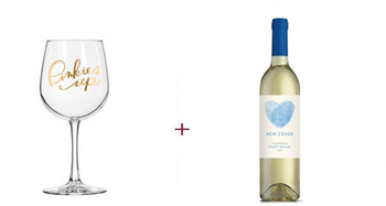 Easy Tiger Pinkies Up Wine Glass + New Crush Pinot Grigio Free Gift ($35 Value)