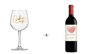 Easy Tiger Pinkies Up Wine Glass + New Crush Red Blend Free Gift ($40 Value)