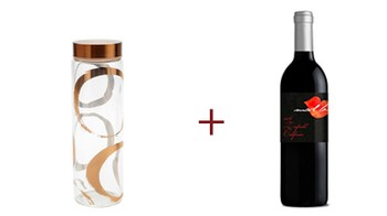 Glass Water Bottle + Mad Love Zinfandel Free Gift ($51 Value) Image