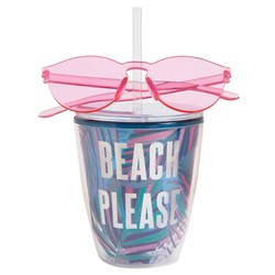 Beach Please Cup and Glasses