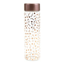 Plum & Punch - Glass Water Bottle - Confetti