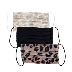 Kitsch - Leopard 3-Pack Cotton Face Masks