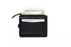 Kiko - Leather Card Case - Textured Black